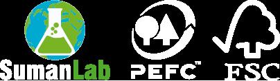 Sumanlab FSC (Consejo de Administración Forestal) y/o PEFC (Programa para el Reconocimiento de Certificación Forestal)